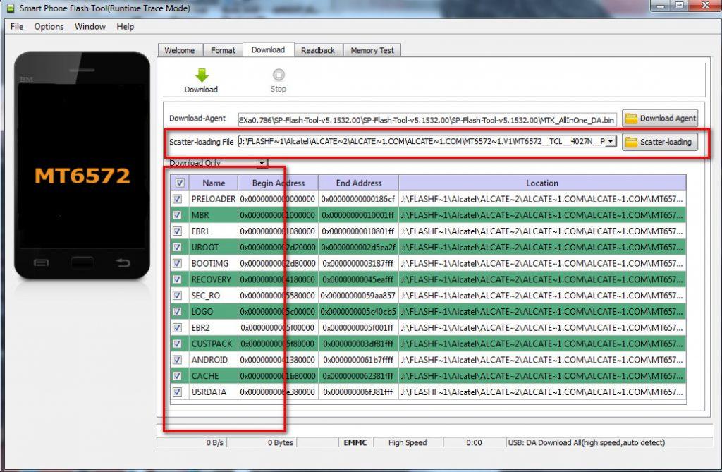 Mediatek (mtk) Chipset Flash in SP flash