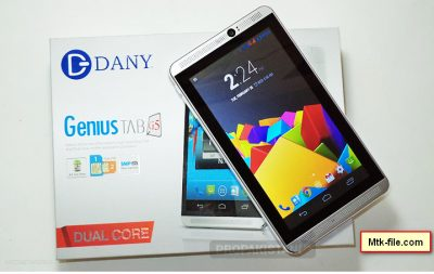 Dany Tab Genius G5 MT6582 Update Firmware Flash File