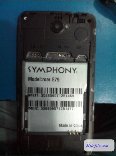 Symphony E79 Flash File
