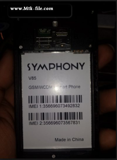 Symphony V85 flash file