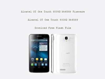Alcatel 8008D MT6589 Firmware Flash File