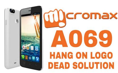 micromax a069 hang on logo