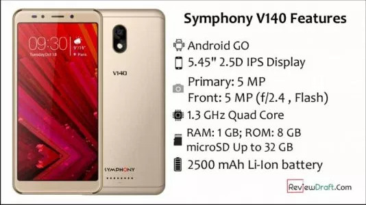 Symphony V140 Firmware