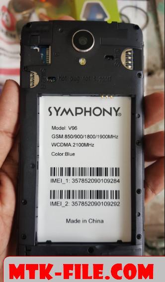 Symphony V96 Flash File